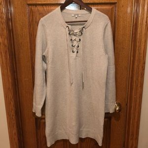 Madewell tie front sweater.